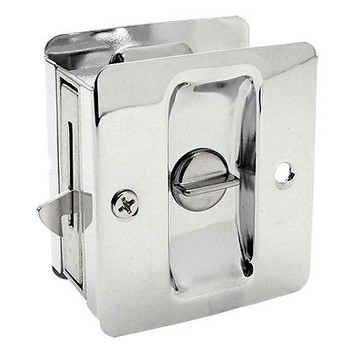 Designers Impressions Polished Chrome Pocket Door Privacy Lock : 53867