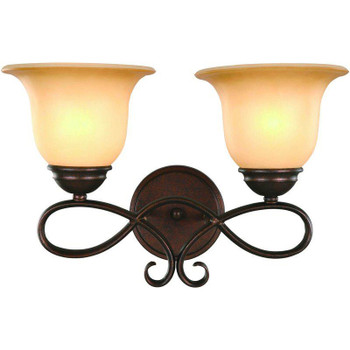 Bennington Antique Bronze 2 Light Bath/Wall Light Fixture: 16-3422