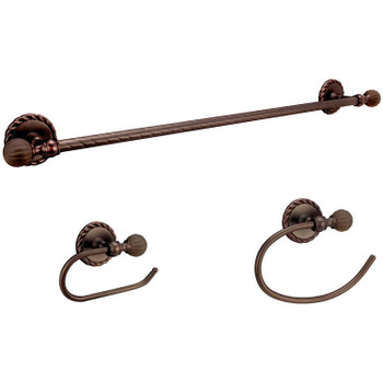 Designers Impressions Andora Series 3 Piece Oil Rubbed Bronze Bathroom Hardware Set