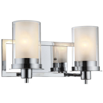 Juno Chrome 2 Light Wall Sconce / Bathroom Fixture: 73468