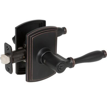 Delaney Sorado Design Oil Rubbed Bronze Entry Door Lever (Front & Back): 500T-SO-US10