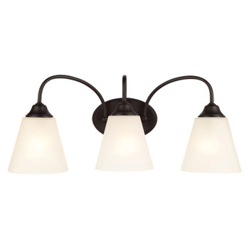 Galveston Matte Black 3 Light Wall Sconce / Bathroom Fixture : 21-0119