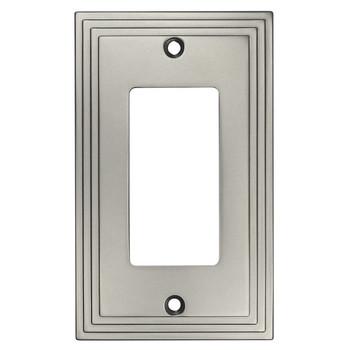Cosmas 25000-SN Satin Nickel Single GFCI / Decora Wall Plate