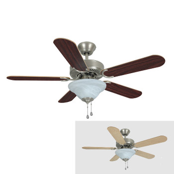 "Satin Nickel 42"" Ceiling Fan w/ Light Kit : 5630"