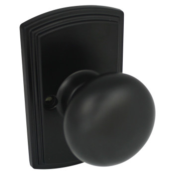 Delaney Santo Design Black Dummy Door Knob (Non-Functioning): 115-SN-BLACK