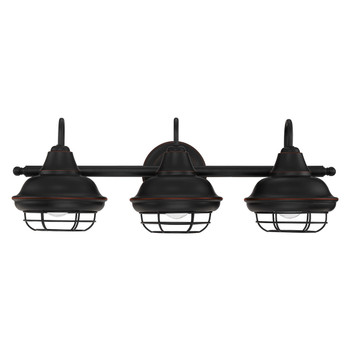 Designers Impressions Charleston Series Oil Rubbed Bronze 3 Light Wall Sconce / Bathroom Fixture: 10010
