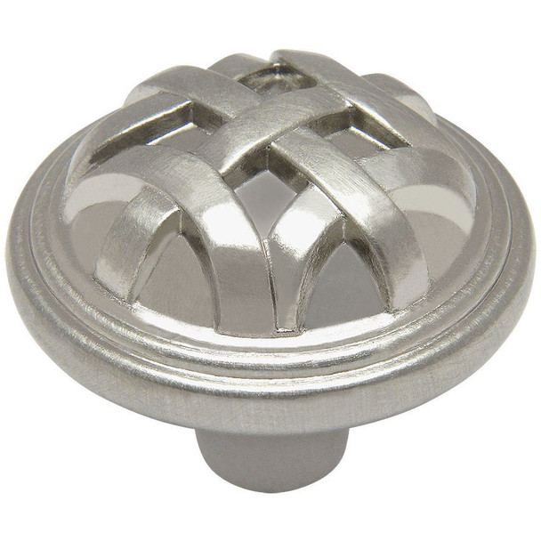 Cosmas 7064SN Satin Nickel Braided Cabinet Knob