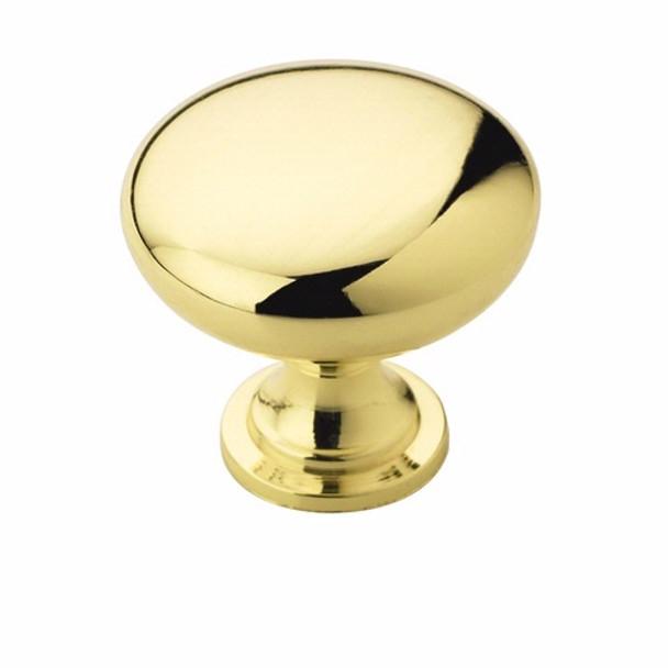 Amerock BP53005-3 Allison Polished Brass Round Cabinet Knob