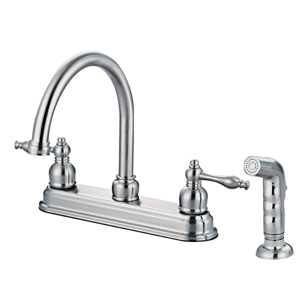 Crystal Cove 12-2757 Satin Nickel Kitchen Faucet w/ Sprayer