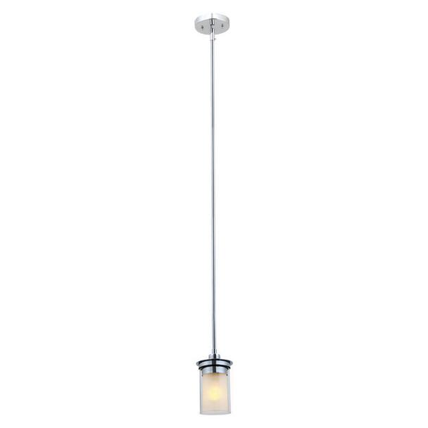 Avalon Chrome 1 Light Pendant Ceiling Fixture: 21-9129