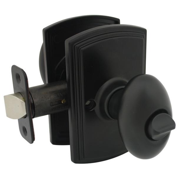 Delaney Canova Design Black Privacy Door Knob (Bed & Bath): 102T-CN-BLACK
