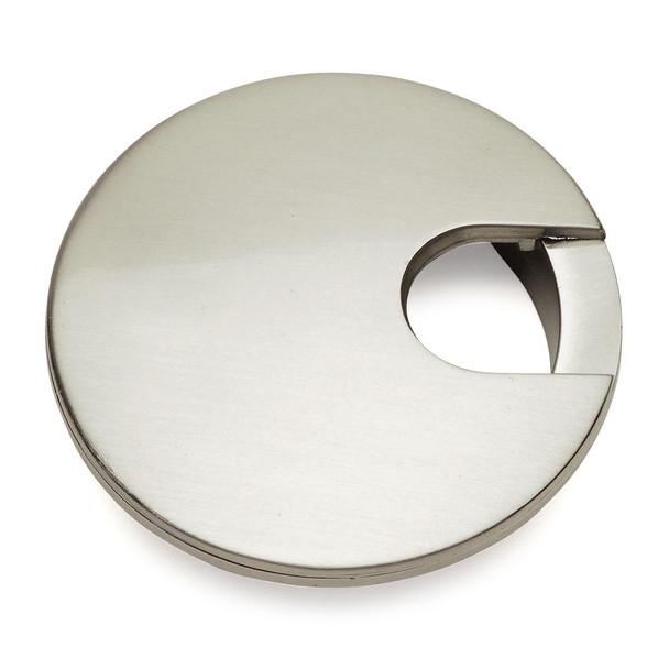 """Cosmas 50203SN Satin Nickel Desk Grommet - 3"""" Overall Diamter"""