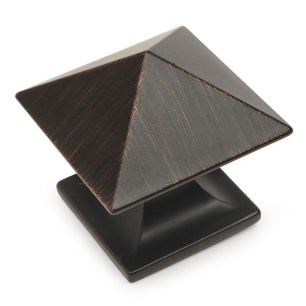 Cosmas 10555ORB Oil Rubbed Bronze Square Zinc Cabinet Knob
