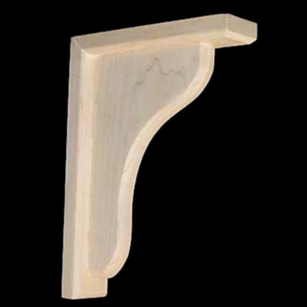 Wood Corbel Bar Bracket Support Solid Maple CVB-2-M