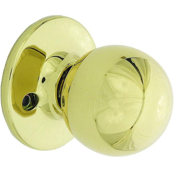 Designers Impressions Ashland Design Polished Brass Dummy Door Knob