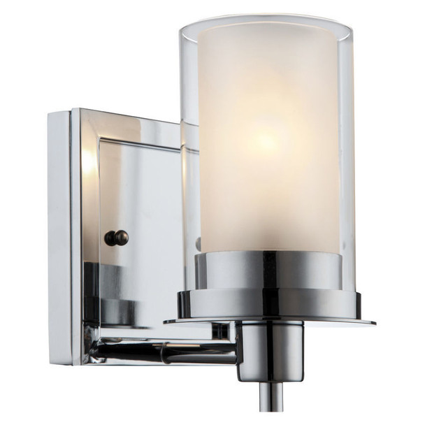 Avalon Chrome 1 Light Wall Sconce / Bathroom Fixture: 21-0379