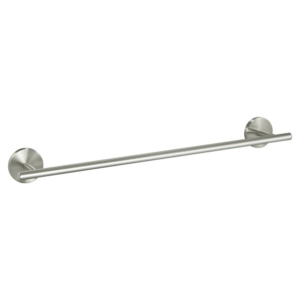 "Designers Impressions Kain Series Satin Nickel 24"" Towel Bar: 49632"