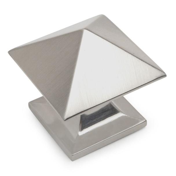 Cosmas 10555SN Satin Nickel Square Zinc Cabinet Knob