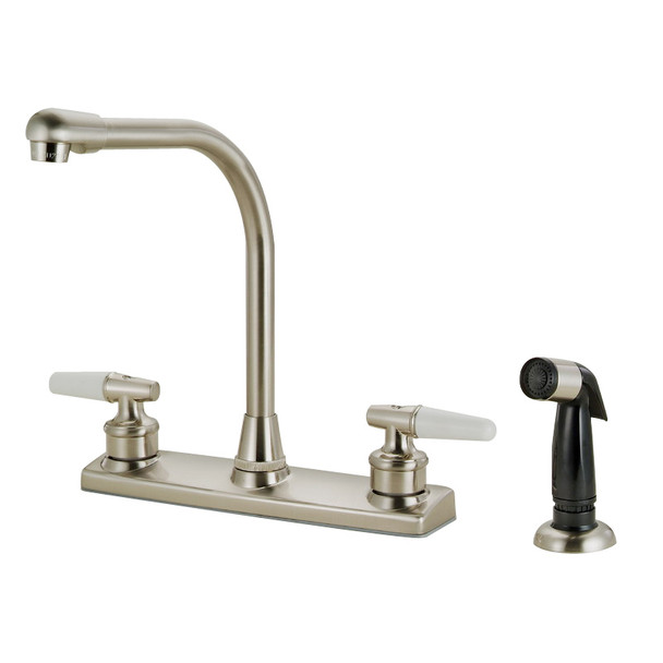 Crystal Cove 12-3419 Satin Nickel Kitchen Faucet w/ Sprayer