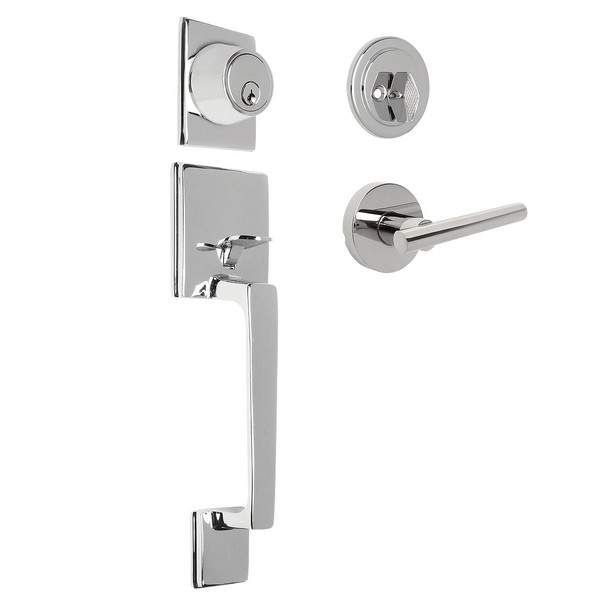 Designers Impressions Churchill Design Polished Chrome Handleset with Kain Interior
