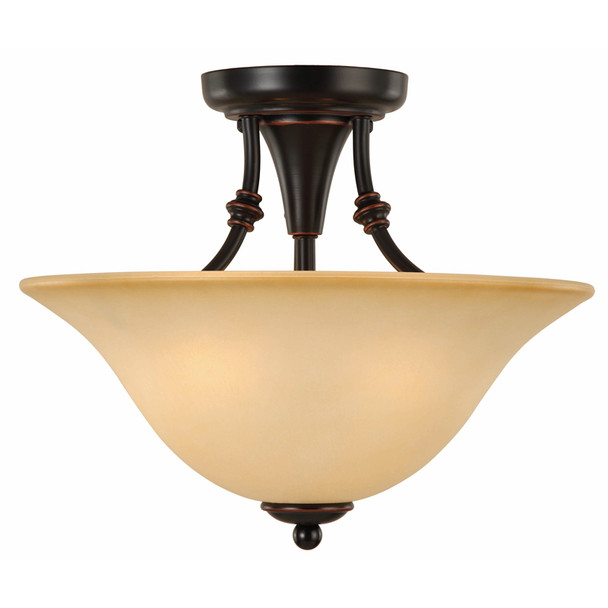 Oil Rubbed Bronze Semi-Flush Mount Ceiling Light Fixture : 16-7635