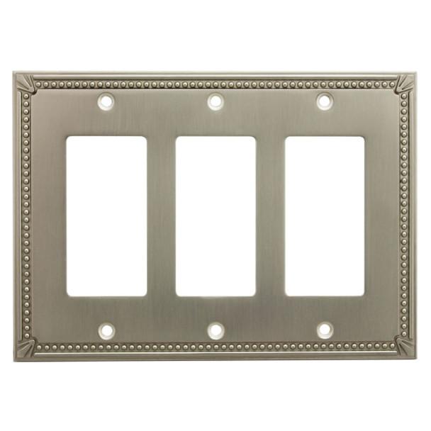 Cosmas 44095-SN Satin Nickel Triple GFCI / Decora Wall Plate