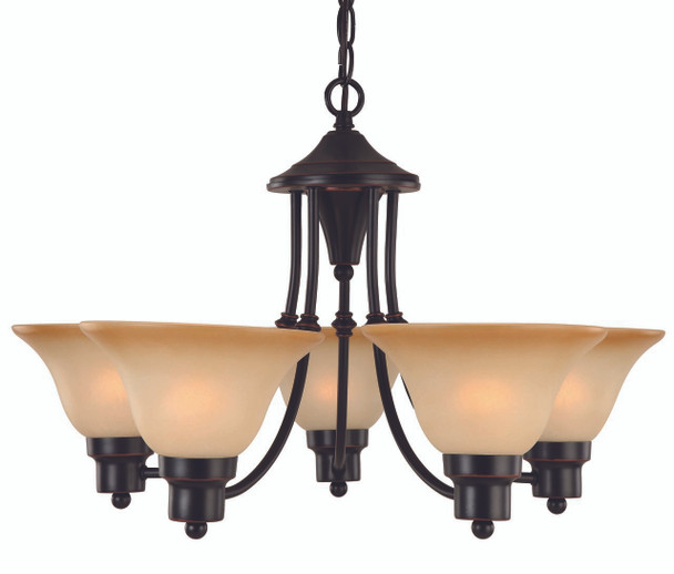 Oil Rubbed Bronze 5 Light Chandelier : 16-8885