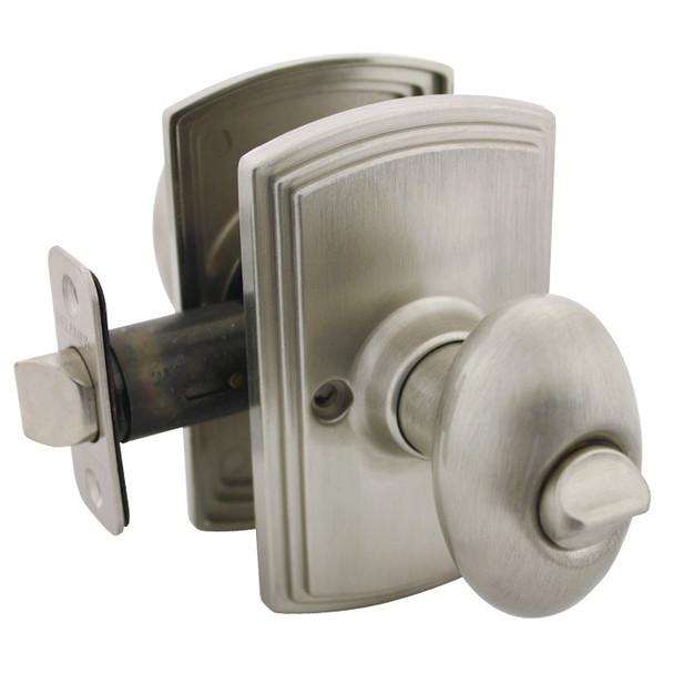 Delaney Canova Design Satin Nickel Privacy Door Knob (Bed & Bath): 102T-CN-US15