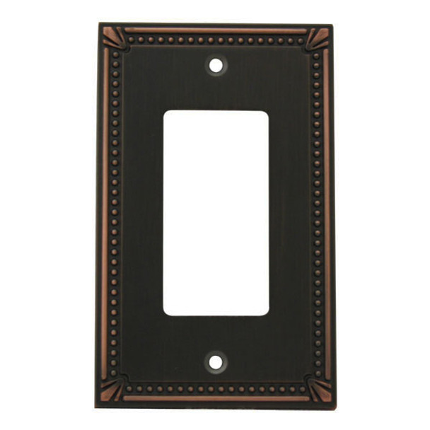 Cosmas 44000-ORB Oil Rubbed Bronze Single GFCI / Decora Wall Plate