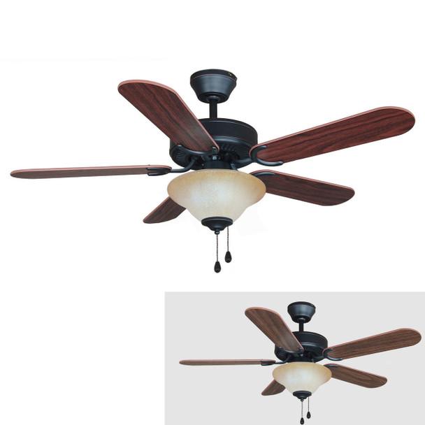 """Oil Rubbed Bronze 42"""" Ceiling Fan w/ Light Kit : 7555"""