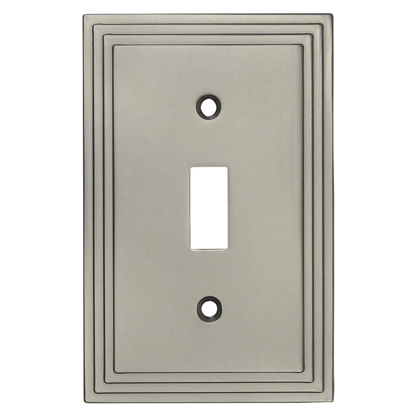 Cosmas 25053-SN Satin Nickel Single Toggle Switchplate Cover