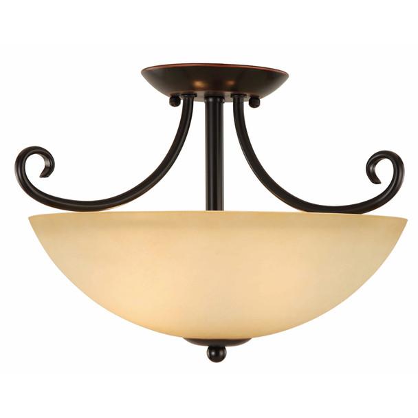 Oil Rubbed Bronze Semi-Flush Mount Ceiling Light Fixture : 16-8052