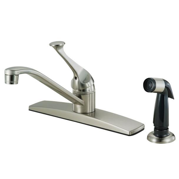 Crystal Cove 12-3099 Satin Nickel Kitchen Faucet w/ Sprayer