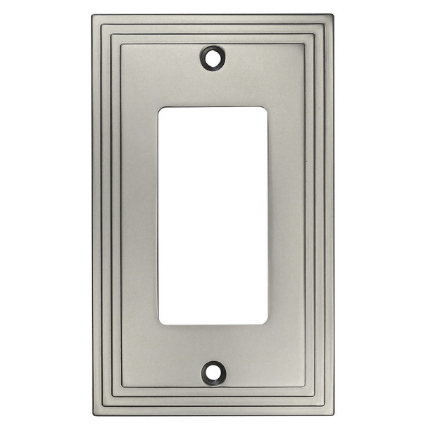 Cosmas 25000-SN Satin Nickel Single GFCI / Decora Wall Plate