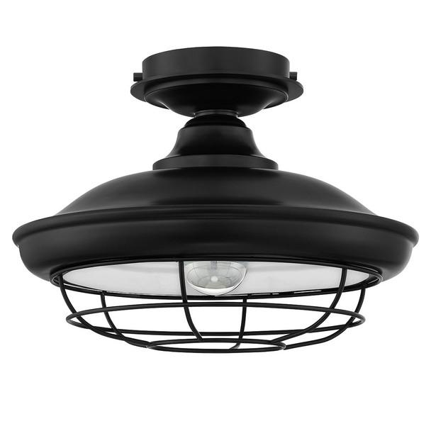 Designers impressions charleston matte black semi flush mount designers impressions charleston matte black semi flush mount ceiling light fixture 10002 aloadofball Image collections