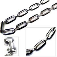"""8mm Titanium Men's Box Chain Necklace 20"""" NTI005"""