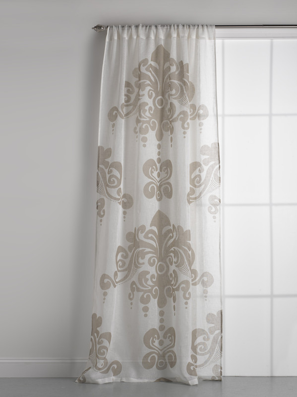 Couture Dreams Enchantique Linen Gauze Ivory Curtain Panel
