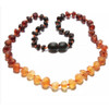 Raw Amber Teething Necklace, Ombre