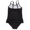 Ruffle Swimsuit, Black