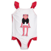 Mini Rodini Frog Swimsuit, Cerise