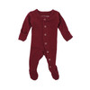 Organic Footed Overall, Cranberry
