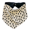 Organic Cotton Bandana Bib, Black Triangles