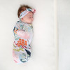 Swaddle & Headband Set, Forest Queen