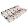 Black Rose Changing Pad Cover