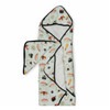 Terry Cloth & Bamboo Hooded Towel Set, Sushi