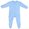 Bamboo Footed Romper, Sky Blue