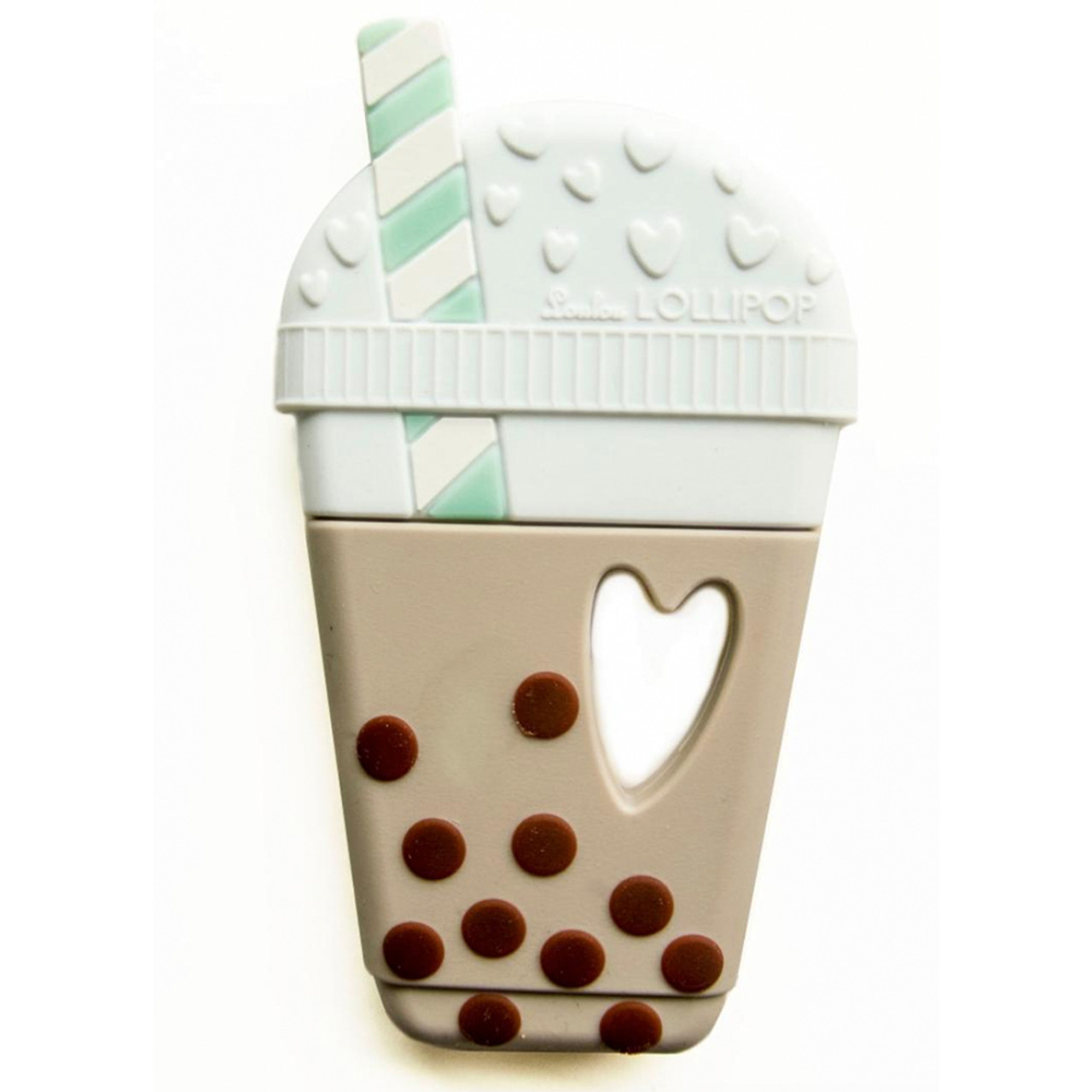 Single Bubble Tea Silicone Teether Natural Spearmint