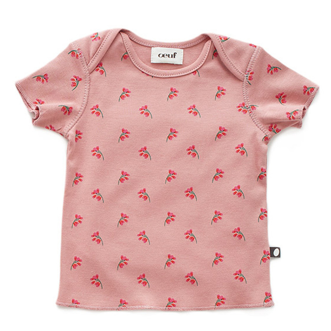 cfb13336a208 Oeuf Baby Tee, Rose Flowers - Spearmint Ventures, LLC
