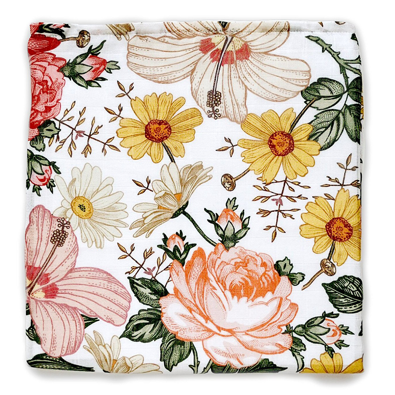 Antique Floral: Muslin Swaddle, Vintage Floral