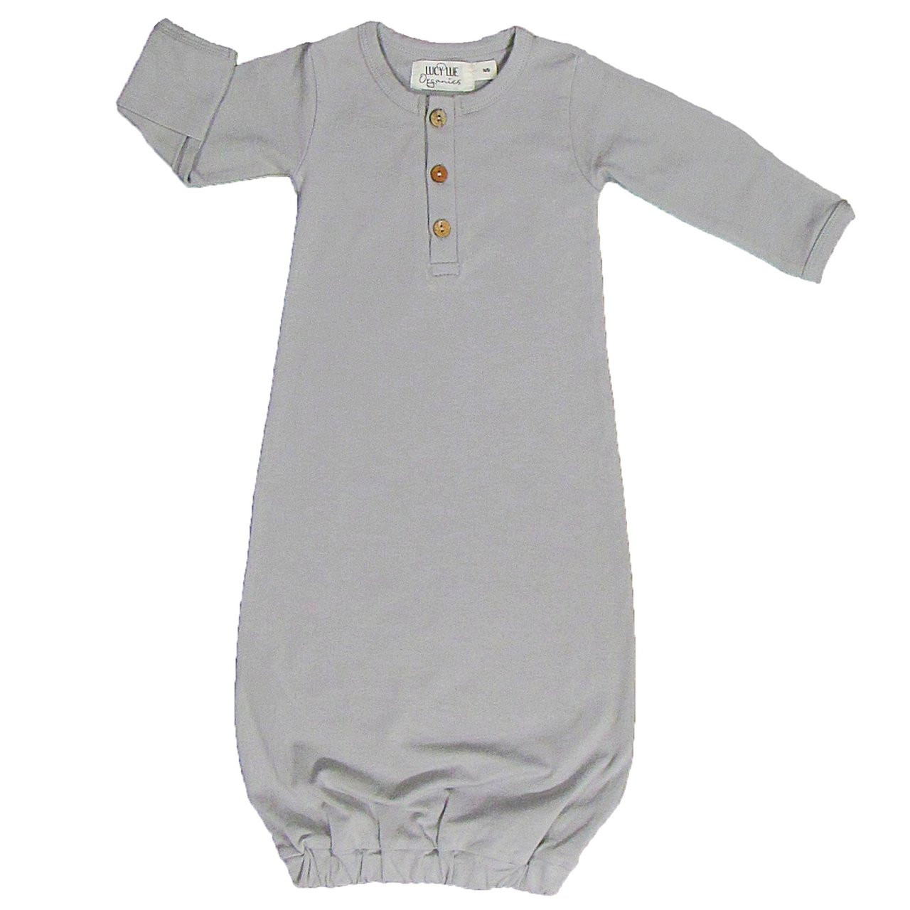 Organic Baby Snuggle Gown, Stone Grey - Spearmint Ventures, LLC